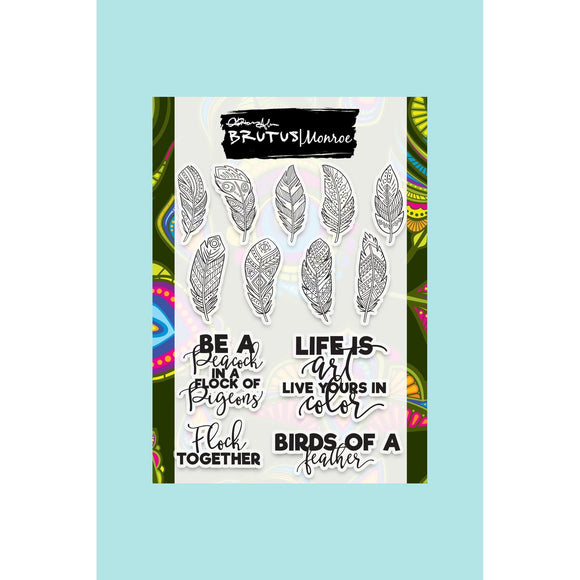 Brutus Monroe - Birds of a Feather - Feathered Sentiments Stamp