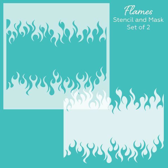 Honey Bee - Flames | Stencil and Mask | Set of 2