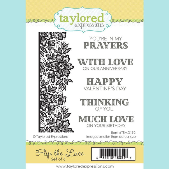 Taylored Expressions - Flip the Lace Stamps and Dies