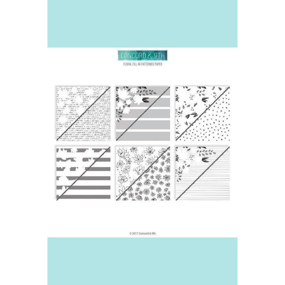 Concord & 9th FLORAL FILL-IN PATTERNED PAPER