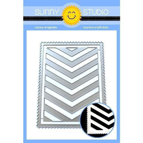 Sunny Studio Stamps - Frilly Frames Chevron Dies