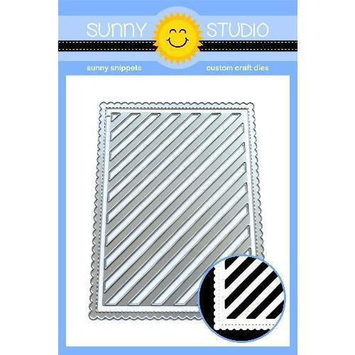 Sunny Studio Stamps - Frilly Frames Stripes Dies