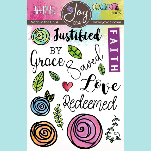 Joy Clair - Saved By Grace | Bible Journaling Stamp Set