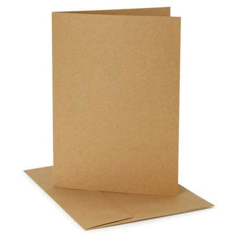 Darice® - Blank Kraft Cards with Envelopes: A7 size, 12 sets