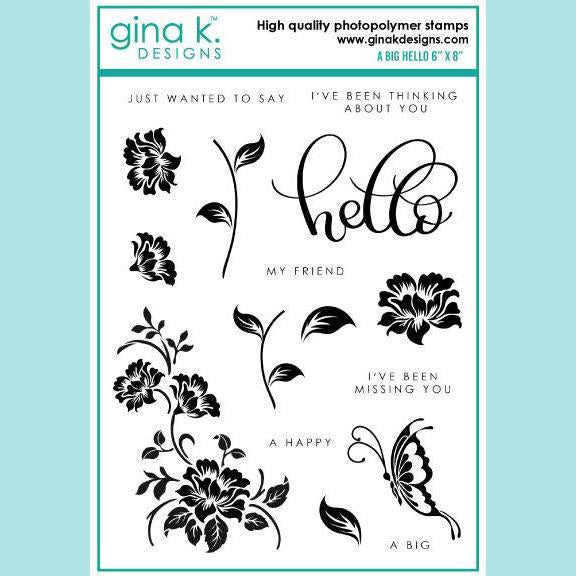 Gina K - A Big Hello Stamp  Set