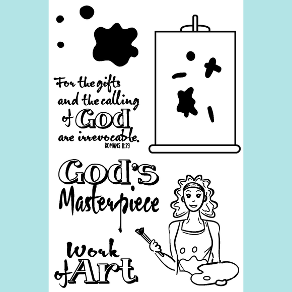 Joy Clair God's Masterpiece | Bible Journaling Stamp Set