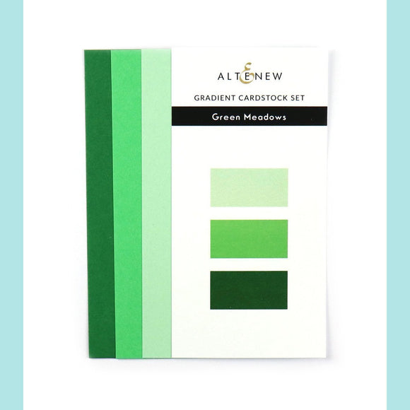 Altenew Gradient Card Stock Set - Green Meadows