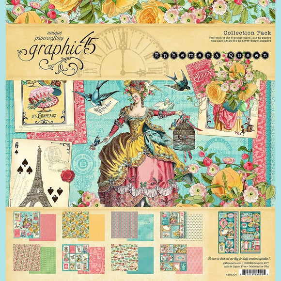 Graphic 45 - Ephemera Queen - 12x12 Collection Pack