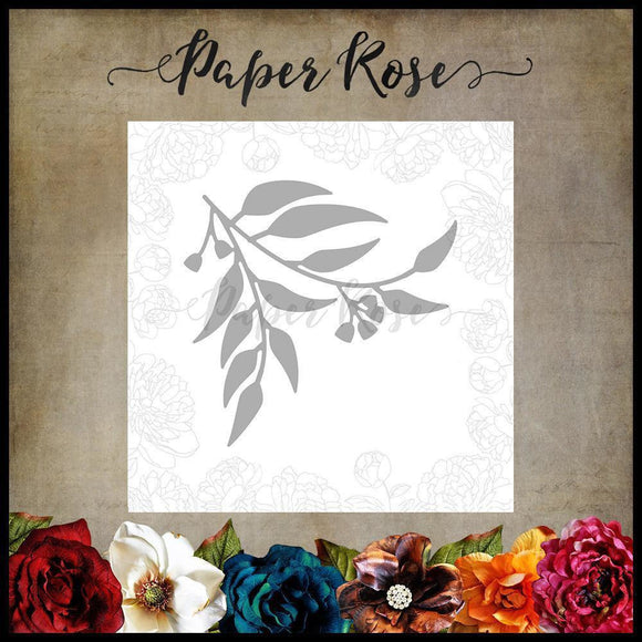 Paper Rose Gum Leaves 2 Metal Cutting Die
