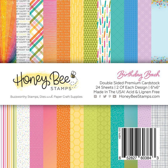 Paper Pad 6x6 | 24 Double Sided Sheets | Birthday Bash