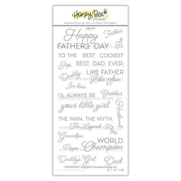 Honey Bee Stamps - Father's Day Stamp and Die