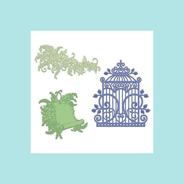 Mint Cream Heartfelt Creations - Sweet Lilac Scroll & Cage Die