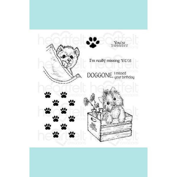 Heartfelt Creations - Paw-fect Pooches Stamp Set