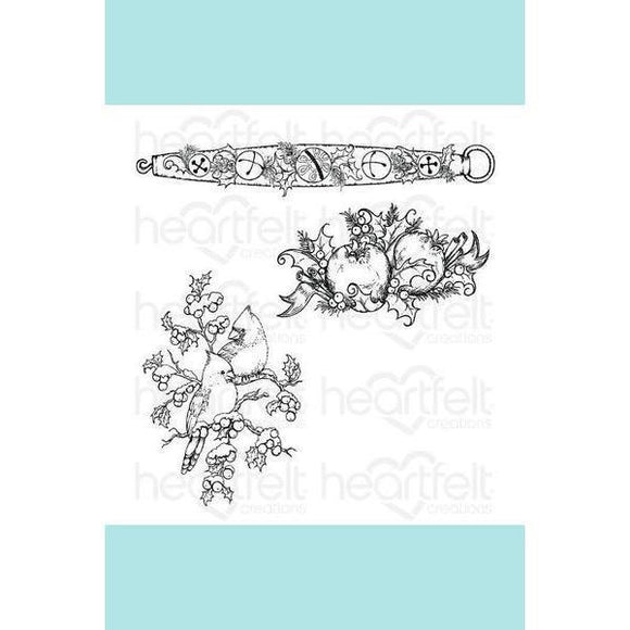 Heartfelt Creations - Holly Berry Jingle Cling Stamp Set