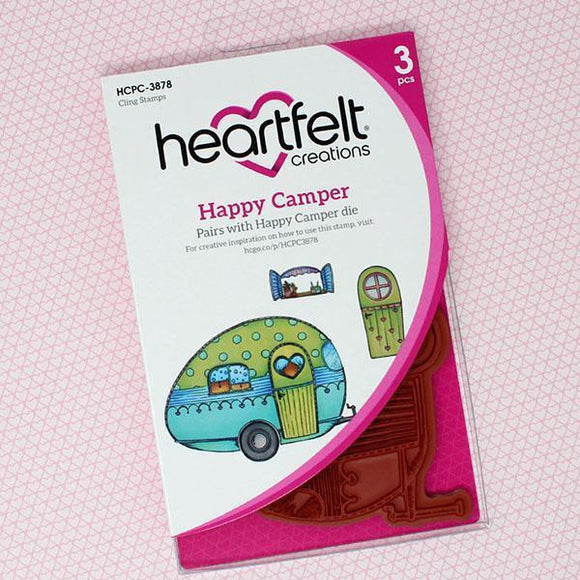 Heartfelt Creations - Happy Camper Cling Stamp and Die Set