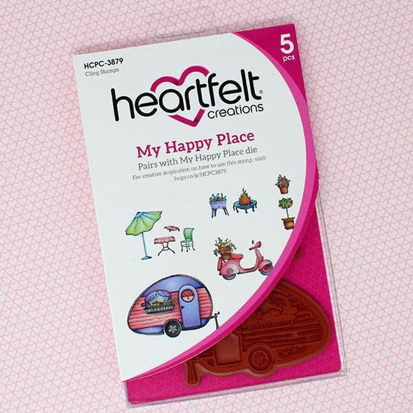 Heartfelt Creations - My Happy Place Cling Stamp and Die Set