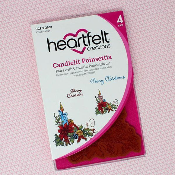 Heartfelt Creations - Candlelit Poinsettia Cling Stamp and Die