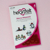 Heartfelt Creations - Candy Cane Cottage Collection - Merry Moments Cling Stamp and Die