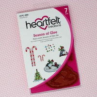 Heartfelt Creations - Candy Cane Cottage Collection - Season of Glee Cling Stamp Set
