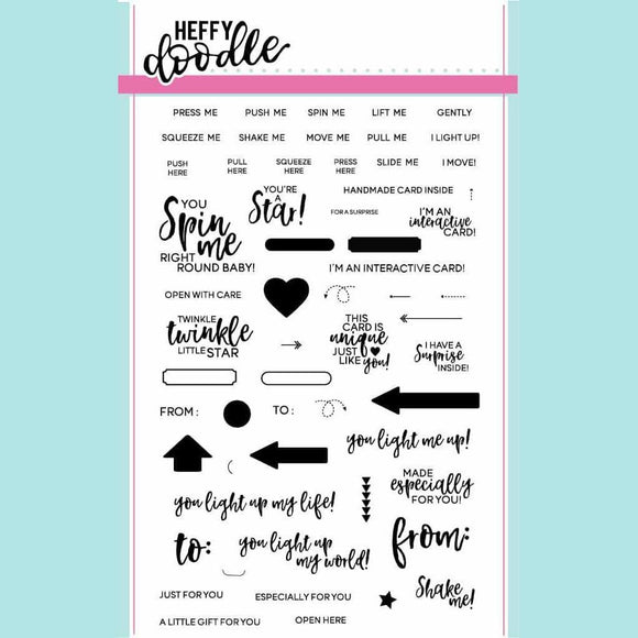 Heffy Doodle - Interactively Yours Clear Stamp Set