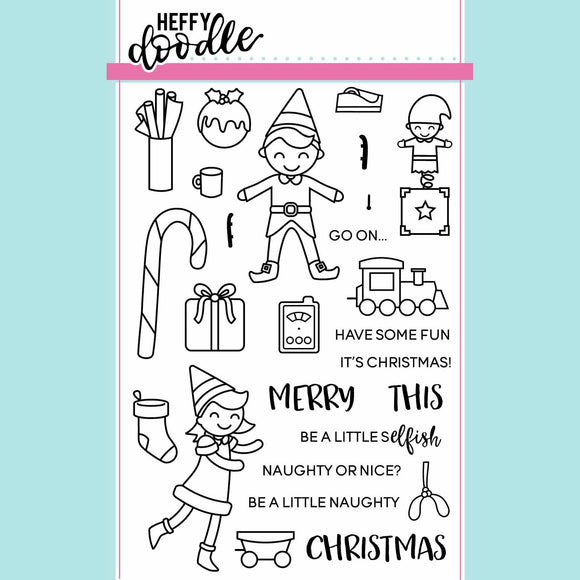 Heffy Doodle - Elfish Antics Clear Stamps and Dies