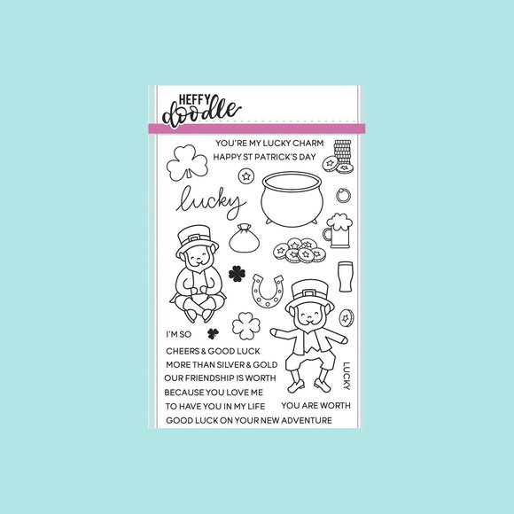Heffy Doodle - Lucky Friends Clear Stamp Set