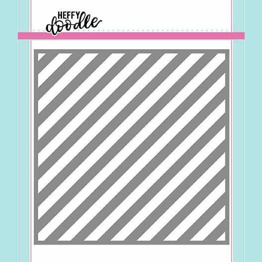 Heffy Doodle - Candy Store (Thin Diagonal Stripes) Stencil