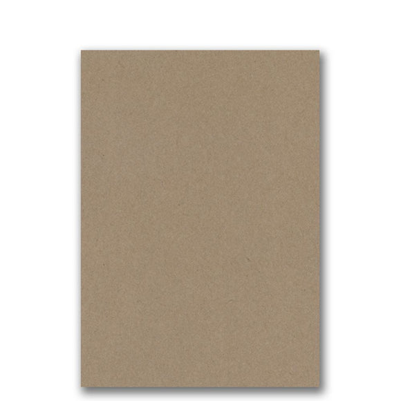 House of Paper - Buffalo Kraft Natural Brown - A5 Card