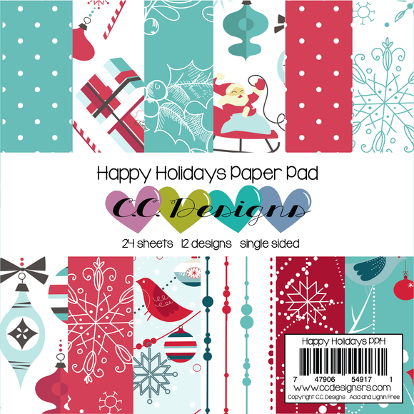 C.C. Designs - Happy Holidays Paper Pad