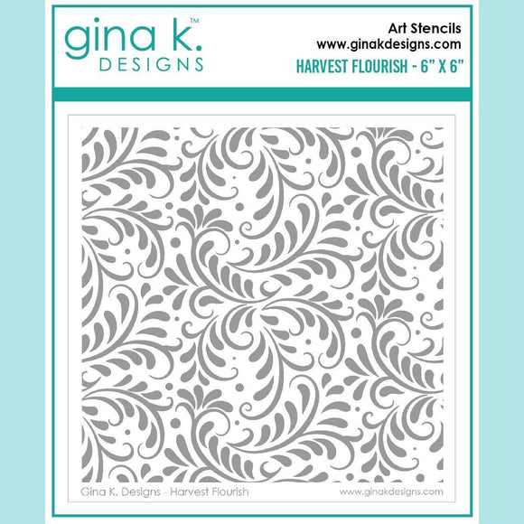 Gina K Designs - Harvest Flourish Stencil