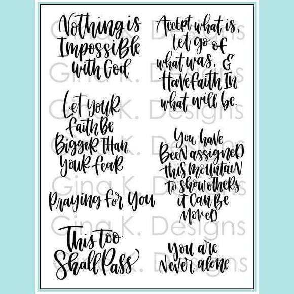 Gina K - Emily Loggans- Have Faith Clear Stamp