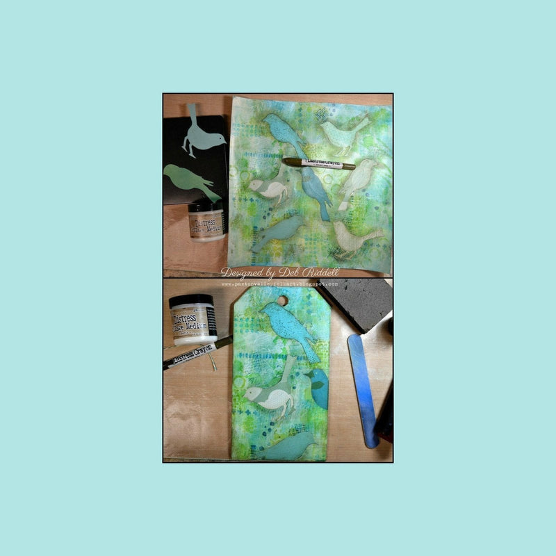 Dark Sea Green Tim Holtz Distress Tags - Size #8 Manila tags.