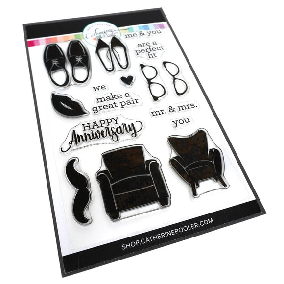 Catherine Pooler - His and Hers Stamp Set
