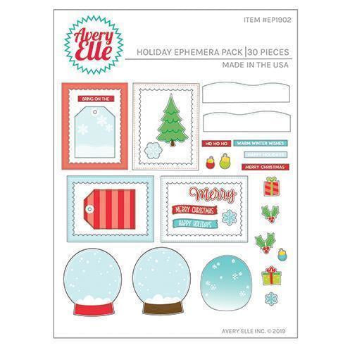 Avery Elle  - Holiday Ephemera Pack