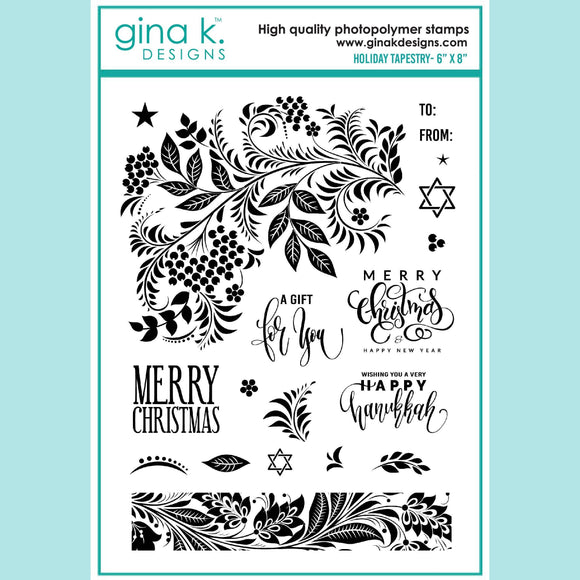 Gina K - Holiday Tapestry Stamp
