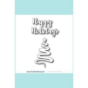 Your Next Stamp Holiday Scribble Tree Tags Die