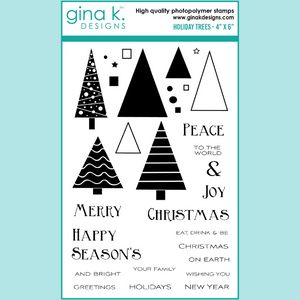 Gina K - Holiday Trees Stamp