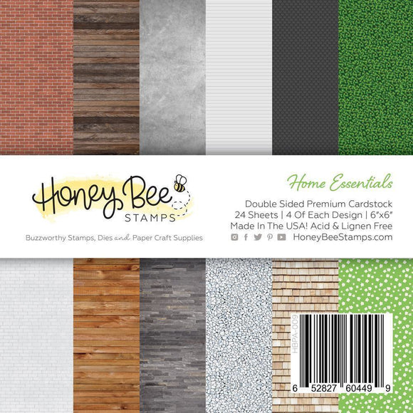 Honey Bee - Paper Pad 6x6 | 24 Double Sided Sheets | Home Essentials