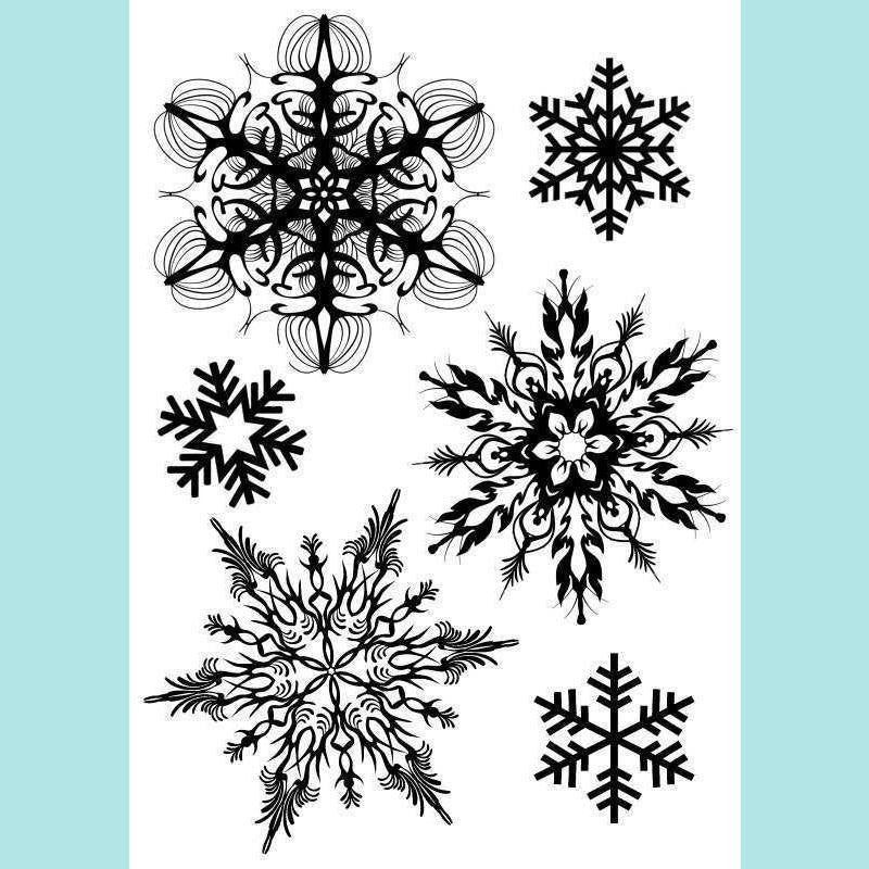 Imagination Crafts Art Stamps 135mm x 91mm - Snowflakes