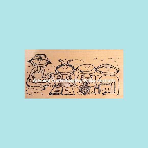 Stampotique - Beach Buds - Wood Mounted Stamps