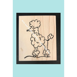 Stampotique - Poodle Doodle - Wood Mounted Stamps