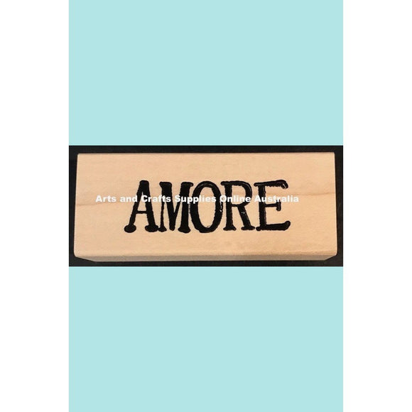 Stampotique - Amore - Love (Italian) Wood Mounted Stamp