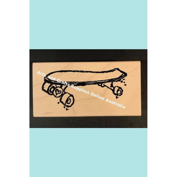 Stampotique - Skateboard - Wood Mounted Stamps