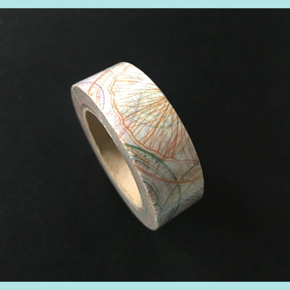 Amazing Value Washi Tape - White Background with Coloured Orange Slice