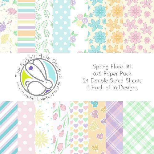 The Rabbit Hole Designs - Spring Floral #1 - 6x6 Paper Pack