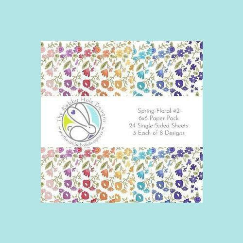 The Rabbit Hole Designs - Spring Floral #2 - 6x6 Paper Pack