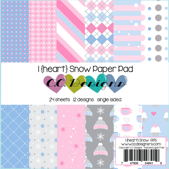 C.C. Designs -  I {heart} Snow Paper Pad