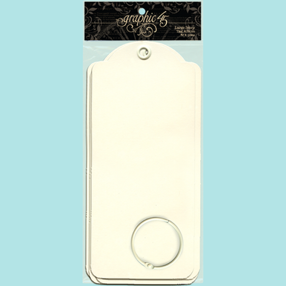 Graphic 45 - Large Tags - Ivory