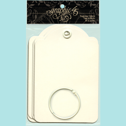 Graphic 45 - Regular Tags - Ivory