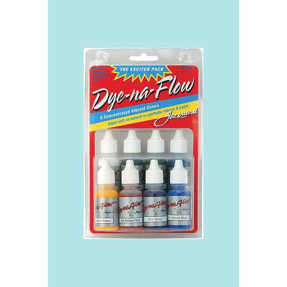 Jacquard Dye-Na-Flow Mini Exciter Pack 8 Colours